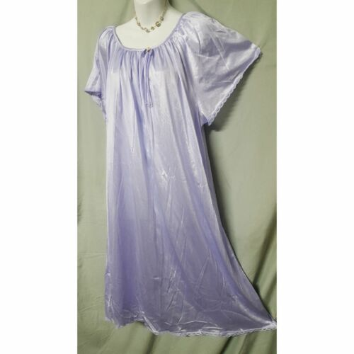 COMFORT CHOICE Blue Green Purple Nightgown B3G1 FREE Calf Length  1X   3x  4X