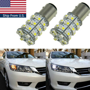 60-SMD-Switchback-LED-Front-Turn-Signal-Light-Bulbs-for-Honda-Accord-Civic-CR-V