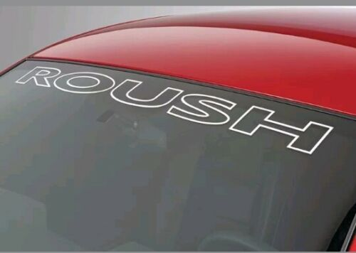Ford Mustang ROUSH Windshield Vinyl Decal Sticker Custom Vehicle Logo WHITE