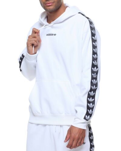 Adidas Originals Trefoil Logo Adicolor TNT Tapped Hoodie White CE1640