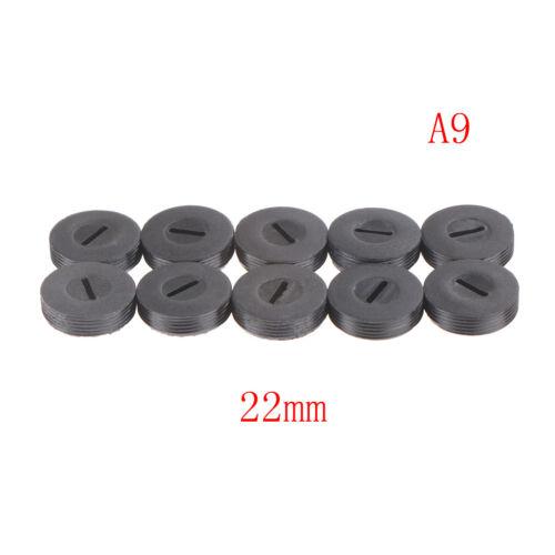 Cepillo de Carbono 10Pcs Cubierta De Pinceles titular de tapa 13 14 15 16 18 20 22mm Negro