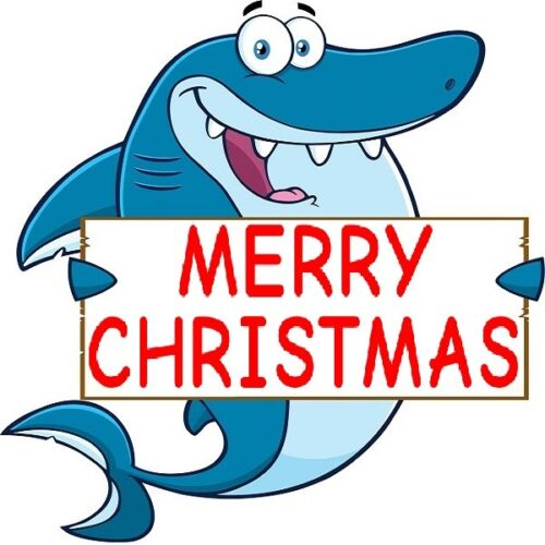 30 Custom Merry Christmas Shark Personalized Address Labels