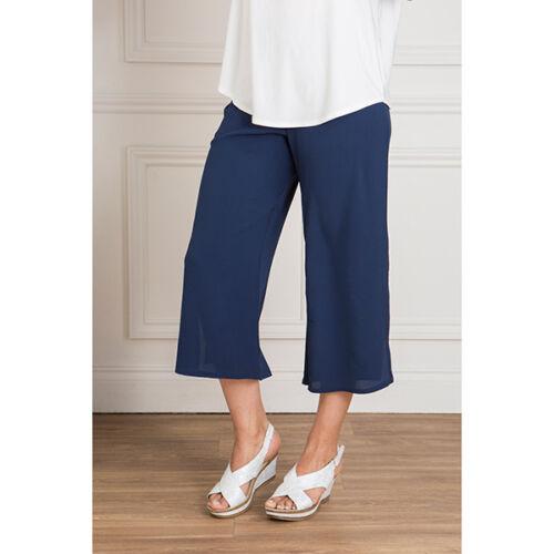 Kasara Layered Wide Leg Trouser Elasticated Blush Grey Navy black S M XL L