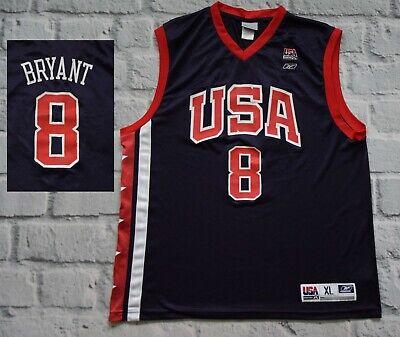 pretty nice 9271d 7e1cf Kobe Bryant USA Olympic Basketball 8 Authentic Reebok Top ...