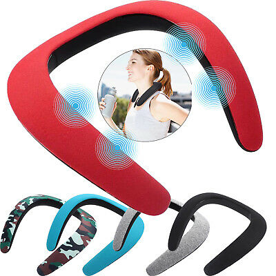 HX321 Bluetooth 5.0 Wireless Neckband Neck Speaker FM AUX SD USB Stereo Fashion