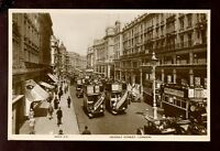 LONDON Regent St early RP PPC open top buses c1920s?