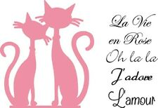 Marianne Design COLLECTABLES Die Cut & Emboss Stencil/Stamp FRENCH CAT COL1344