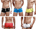 Swimming Trunks Tether Boxers Beach Shorts Pants Briefs Swimwear with Pocket U01
