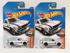 Hot Wheels Datsun 620 Truck White Pair - Lot Of 2