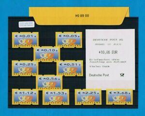 4 85.-€ Vs-aq & Ovp 00 68 04 Nr Brd Tastensatz 1 1-368 €urocent 10 Werte **