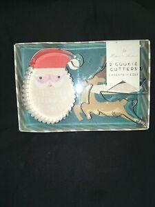 Details About Christmas Cookie Cutter Set Large 4 Be Jolly Santa Reindeer Meri Meri Holiday