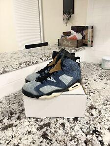 "Air Jordan Retro 6 ""Washed Denim"" Mens Size 11.5"
