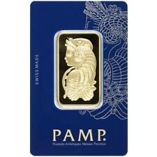 1 oz Gold Bar PAMP - Lady Fortuna Design & VeriScan - PAMP Suisse