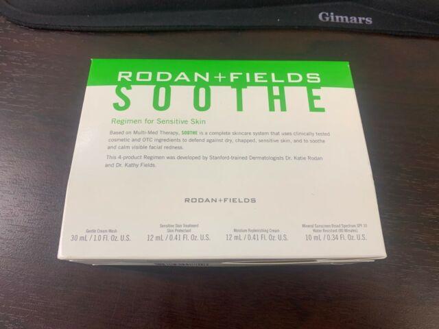 BRAND NEW AUTHENTIC RODAN+FIELDS SOOTHE 4-STEP MINI SIZE REGIMEN EXP 03/21