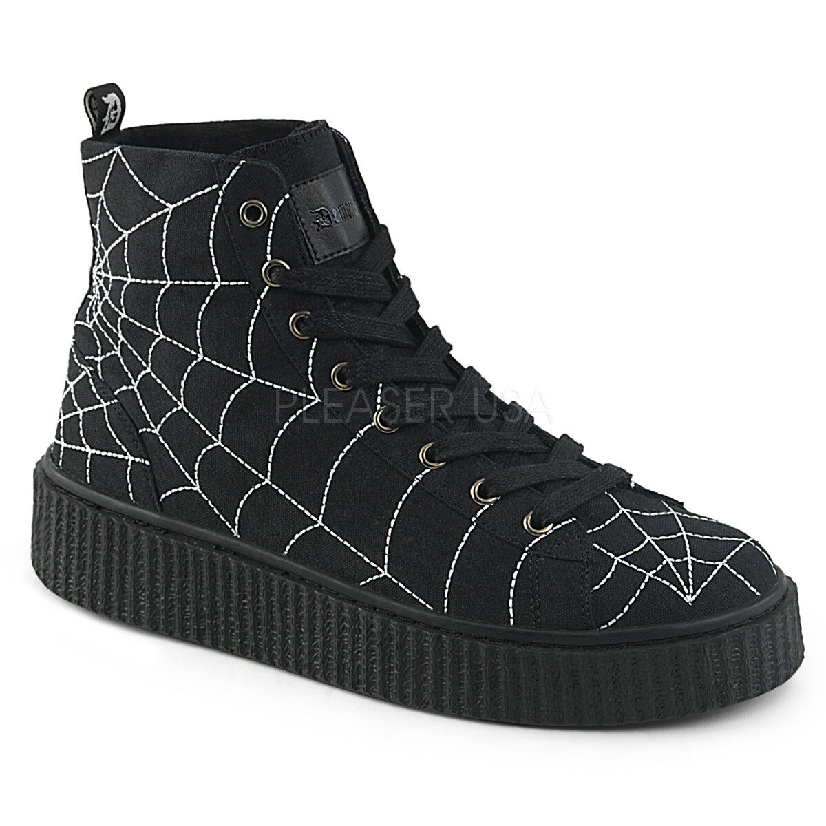 n ° 1 online SNEEKER-250  CANVAS  LACE UP WEB SPIDER SPIDER SPIDER CREEPER BOTTOM HIGH TOP scarpe da ginnastica ( UNISEX  perfezionare