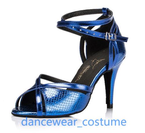 Ladies Party Ballroom Latin Tango Salsa Dance Shoes Heeled Sandals US5-9 3Colors