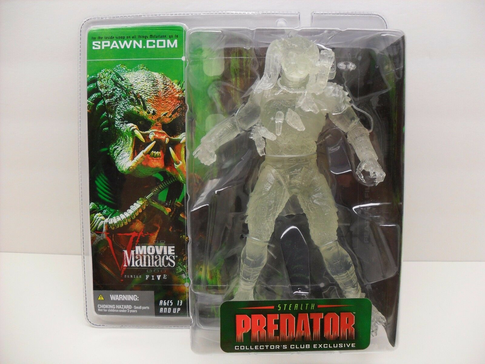 '03 McFarlane Spawn Movie Maniacs 5  Stealth Protator  Collectors Club Exclusive