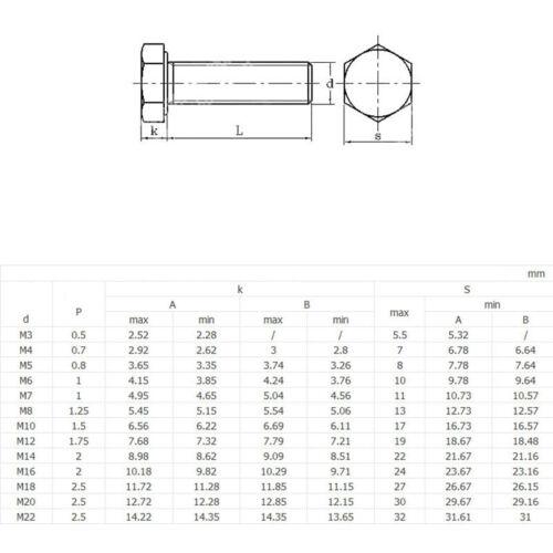 8 Alloy Steel Thread Metric Tap M10 x 1.0 Fine Pitch Hex Cap Bolts Screws