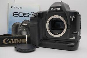 [Near MINT w/ Strap] Canon EOS-3 35mm SLR Body BP-E1 Battery Grip From Japan