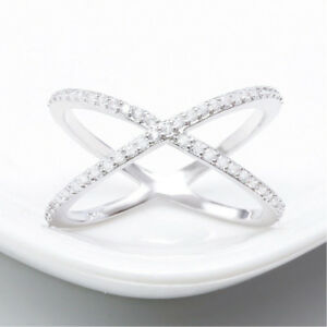Ring-Pave-Setting-X-shaped-Cross-Ring-Size-6-19-CZ