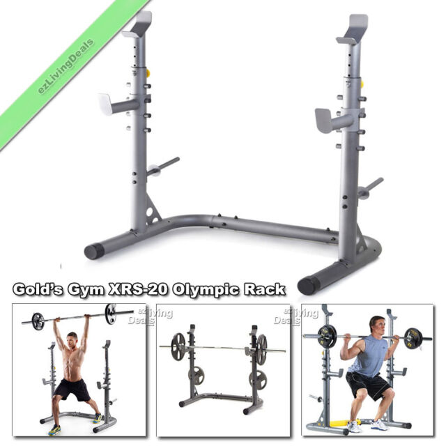Used Squat Rack >> Golds Gym Xrs 20 Olympic Workout Squat Rack Weight Lifting Bench