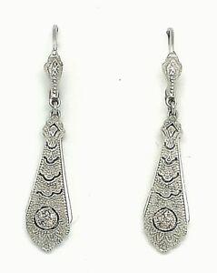 Brillant-Ohrringe-Brillanten-925er-Silber-ART-DECO