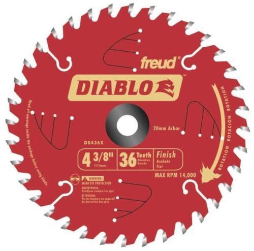 """FREUD D0436X 4 3//8/"""" INCH X 36 TEETH DIABLO FINISHING CIRCULAR SAW BLADE 9930728"""