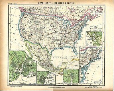 Stati Uniti Cartina Fisica E Politica.Cartina Politica Usa Con Stati