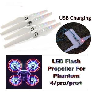 Bien Informé 2 Paires De Nuit Flying Flash Del Hélice De Chargement Usb Pour Dji Drone Phantom 4-afficher Le Titre D'origine