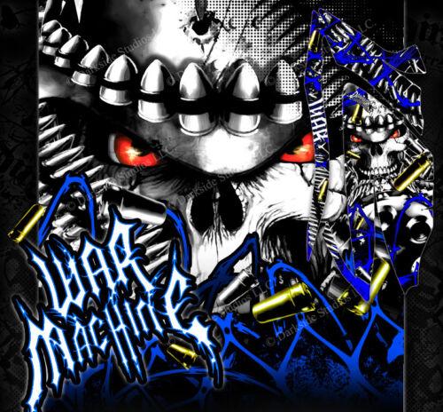"YAMAHA 2006-2012 RAPTOR 700 GRAPHICS WRAP DECAL KIT /""WAR MACHINE/"" FOR PLASTICS"