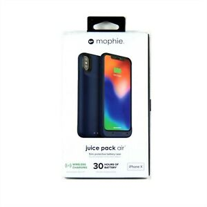 huge discount e2061 0f950 Details about MOPHIE CASE FOR IPHONE XS X POWER BATTERY JUICE PACK AIR QI  BLUE NEW 401002007