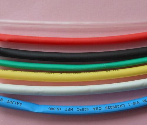 1 Roll 100M Diameter 5mm Heat Shrinkable Tube shrink Tubing 7 colors available
