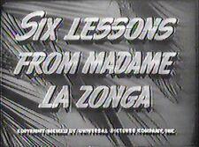 SIX LESSONS FROM MADAME LA ZONGA 1941 (DVD) LUPE VELEZ, SHEMP HOWARD, LEON ERROL