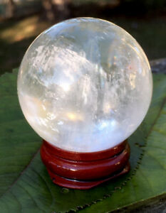 99-6g-NATURAL-RAINBOW-CLEAR-QUARTZ-CRYSTAL-HEALING-SPHERE-Reiki-Charged-SPAIN