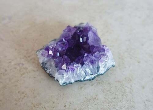 Amethyst Stone Quartz Cluster Point Crystal Healing Reiki Yoga Natural Gemstone