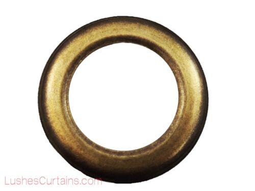 """Curtain Drapery Antique Brass Grommets Eyelet #12 Inner Diameter 1-9//16/"""" Pack of"""
