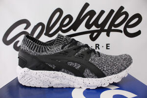 new concept a1f5d 536b0 Image is loading ASICS-GEL-KAYANO-TRAINER-KNIT-WHITE-BLACK-OREO-