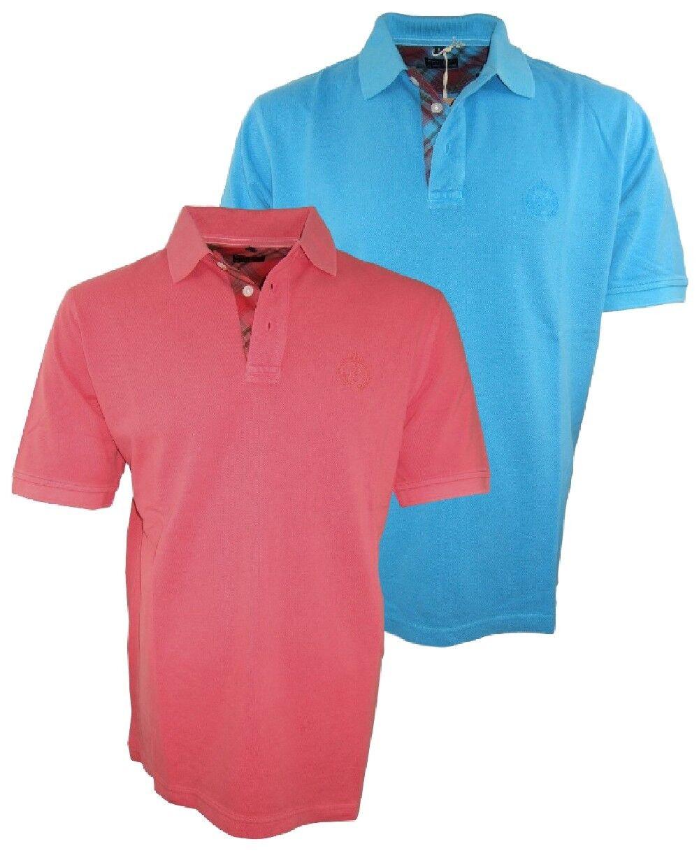 ANGEBOT Baileys Polo Shirt Piqué TREND in beere oder aquablue Gr. XL bis 4XL