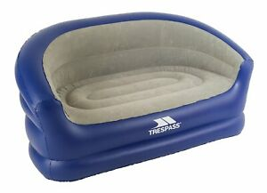 Trespass Flocked Waterproof Double PVC Inflatable Sofa with Repair Kit