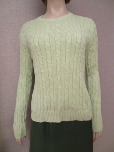 Brooks Brothers Women's Sz M Cable Knit Sweater Pu