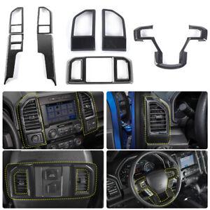 Car Interior Decor Accessories Steering Wheel & Console Cover Trim For Ford F150