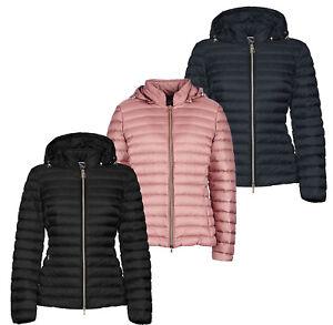 Dettagli su GEOX JAYSEN W8425B donna giubbotto giubbino cappotto giacca piumino imbottito