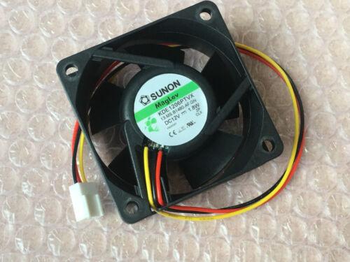 1PC SUNON KDE1206PTVX 6025 6CM DC12V 1.8W 3-wire cooling fan