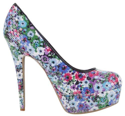 Ladies Womens High Stiletto Heel Platform Pumps Court Shoes Fashionable