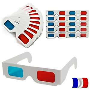Lot-Glasses-3D-Anaglyph-Red-Cyan-Blue-Cardboard-TV-Video-FR