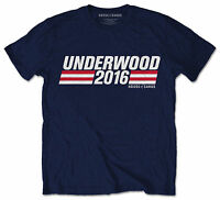 House Of Cards T-Shirt Underwood 2016 Campaign Navy US TV Series Official Tee