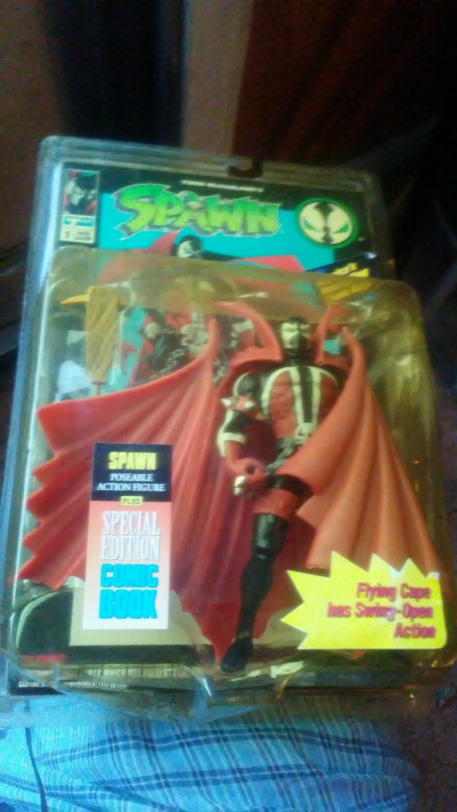 Original 1994 SPAWN ACTION FIGURE by TODD TOYS with COMIC BOOK COLLECTORS ITEM