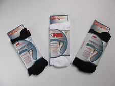 c3d9752c48b +MD PlusMD Microfiber Over the Calf Compression Socks Black White- 3 Pair