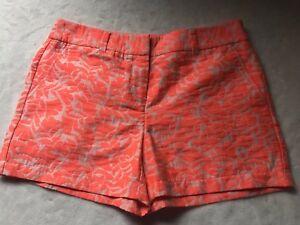 Ann-Taylor-Loft-Neon-Size-4-Orange-Shorts-NWT-4-034-short-Print