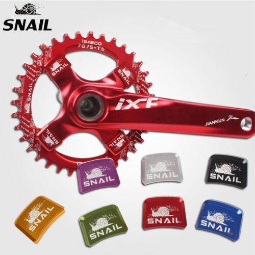 US SNAIL MTB Bike Crankset Chainring Screws Aluminum CNC Square Chainwheel Bolts
